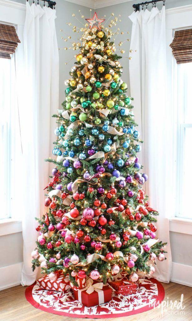 Gradient Rainbow Christmas Tree Decorations Rainbow Colorful Modern Christmas Christma Rainbows Christmas Rainbow Christmas Tree Creative Christmas Trees