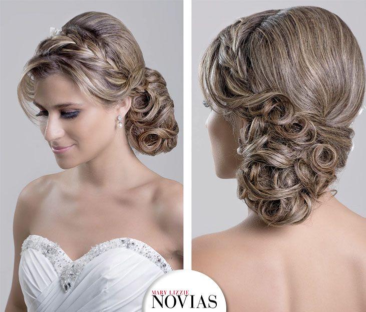 Recogido lateral los peinados de novia m s destacados son - Peinados monos modernos ...