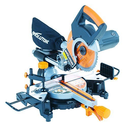 From 112.00 Evolution Rage3-s Multi-purpose Sliding Mitre Saw With Accessory Pack 210 Mm (230v)