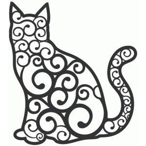 Silhouette Design Store: fancy cat