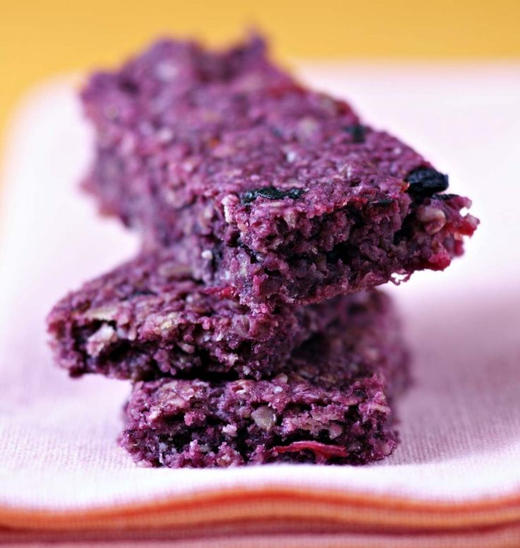 Photo de la recette : Purple flapjacks