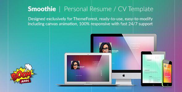 Smoothie Personal Resume Stylelib Personal Resume Cv Resume Template Resume