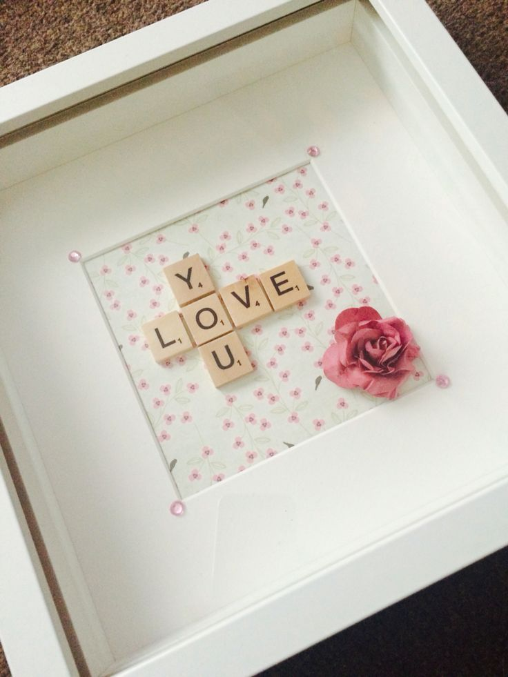 Love you scrabble frame