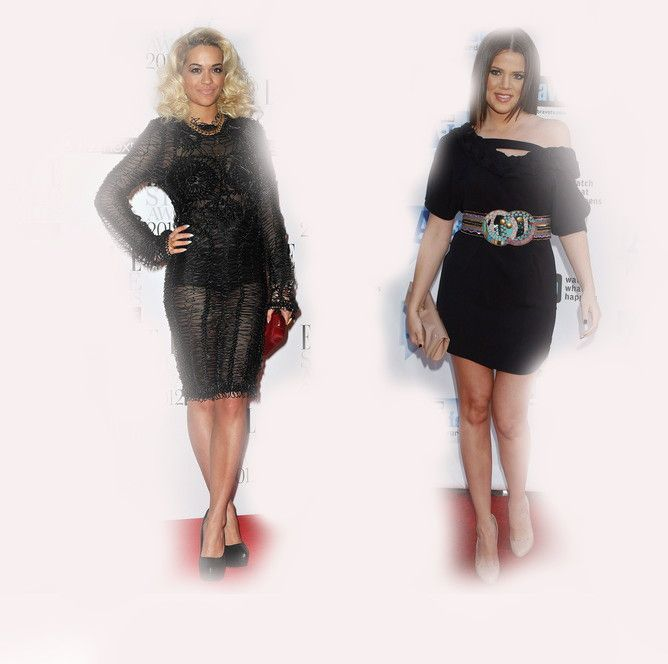 black long sleeve dress, Rita Ora VS Khloe Kardashian Odom fashion diva who-wore-it-better celeb celebrity