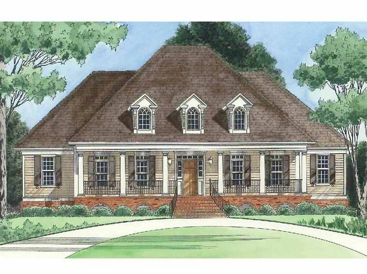 Eplans Country House Plan A Grand Country Porch Entrance