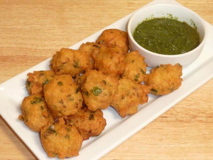 Moong Dal Vada (Bhajia-Pakoras-Fritters) | Manjula's Kitchen | Indian Vegetarian Recipes | vegan