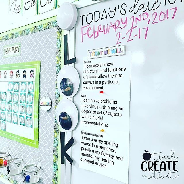 Learning target display----Our learning targets got a little facelift today! set of eyes are from Michaels!!! @teachcreatemotivate