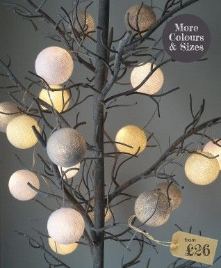 Fun Light Chains | String Lights | Cotton Ball Lights From The Olive Tree