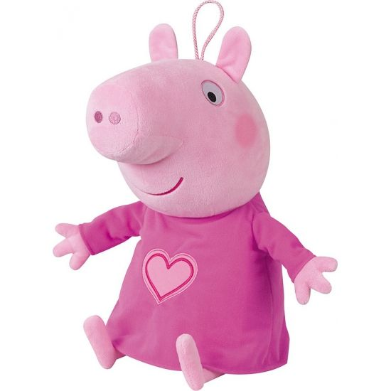 Pluche Peppa Big knuffel 45 cm. Deze pluche Peppa Big knuffel is tevens een pyjama opbergzak. Formaat: ongeveer 45 cm.