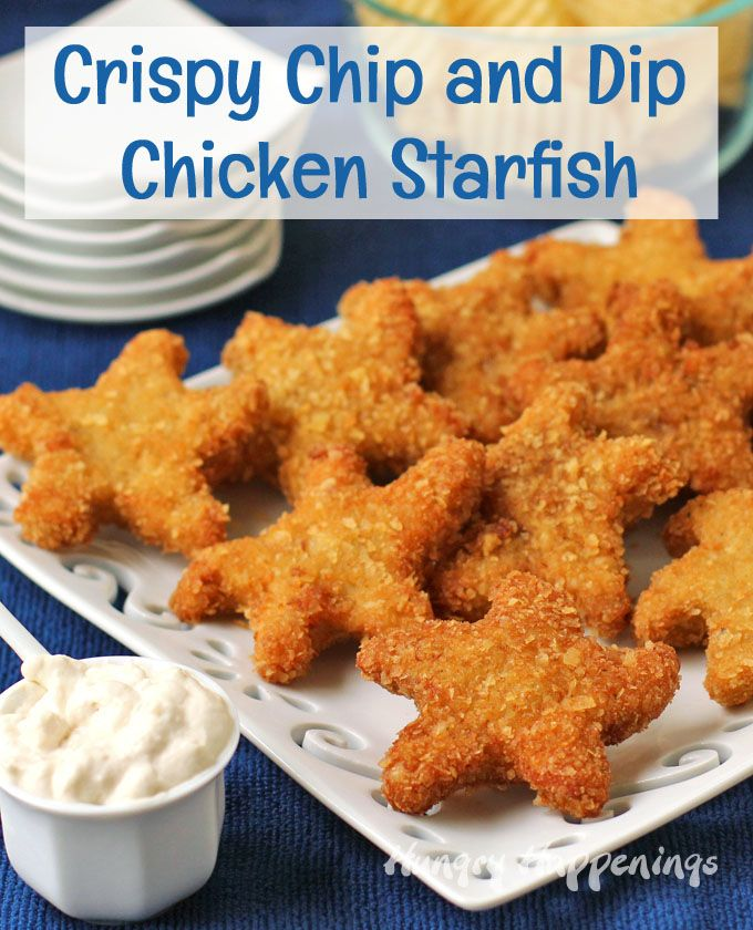 Add a touch of whimsy to your beach themed party by serving Chip and Dip Chicken Starfish.