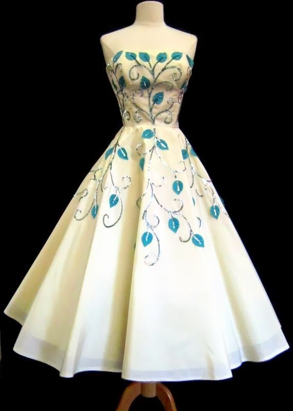 Harry Keiser 1950s tea length dress