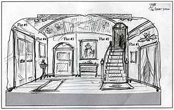 Original concept drawing for The Canterville Ghost set by ...