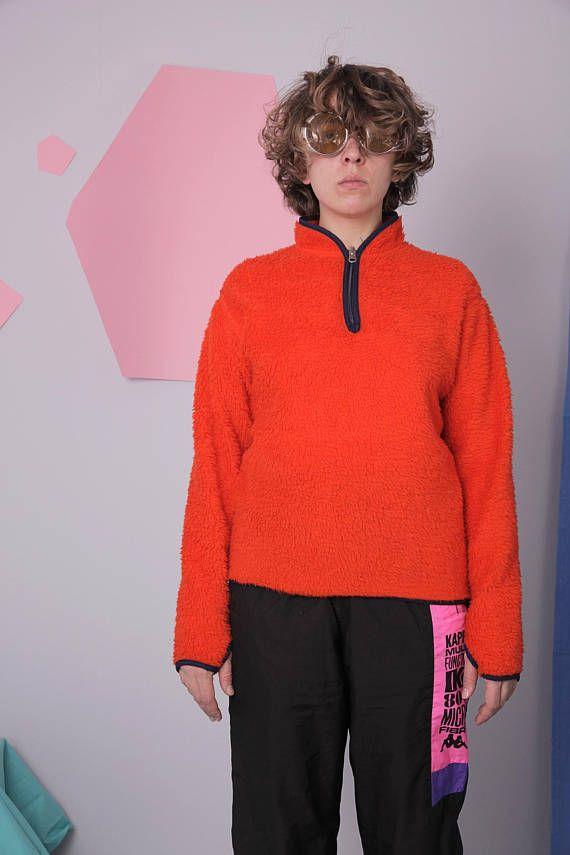 bra försäljning nya anländer auktoriserad webbplats fleece pullover HELLY HANSEN orange zipped sweatshirt warm