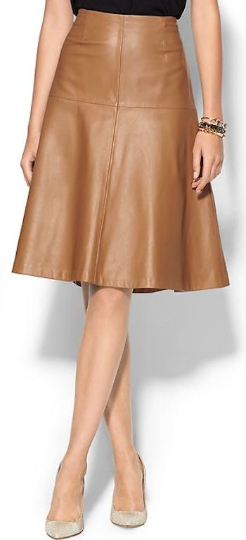 Trend To Wear: MillyMens Bell Skirt Size 10 - Camel