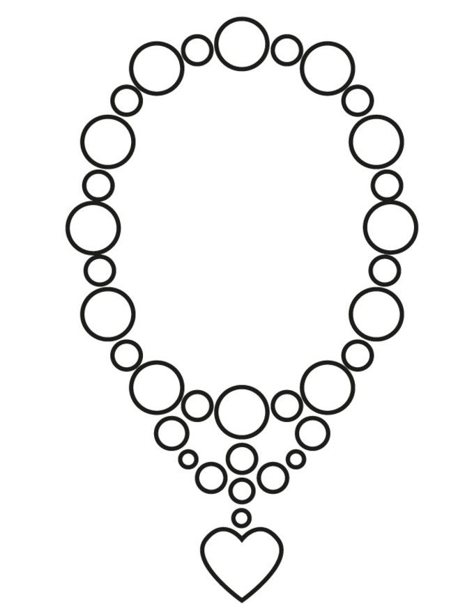 pearl necklace colouring pages page take a look at this cheap jewellry