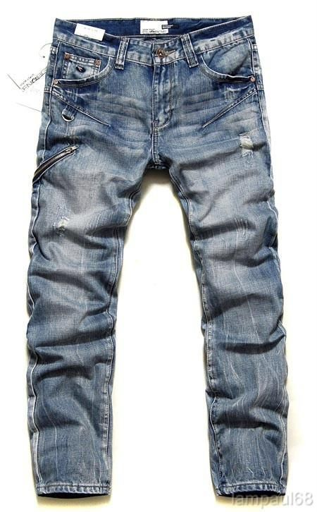 Brand New 2010 ENERGIE WASHED DENIM JEANS Mens Waist Size 31 36