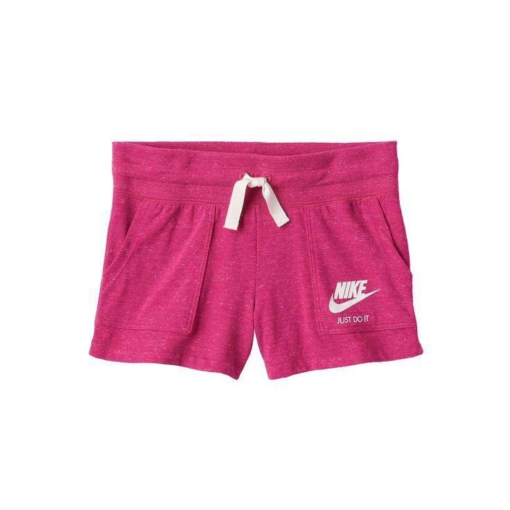 Girls 7-16 Nike Vintage Nep Shorts, Girl's, Size: Medium, Dark Red
