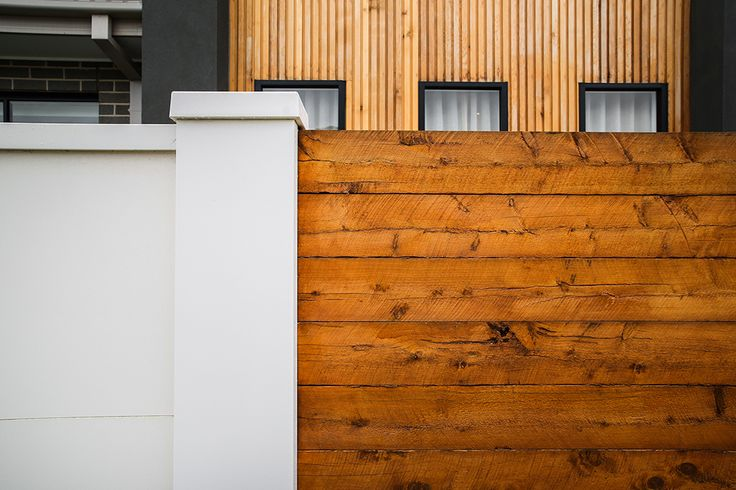 EstateWall with timber infills - mix materials for a contrasted, crisp look!