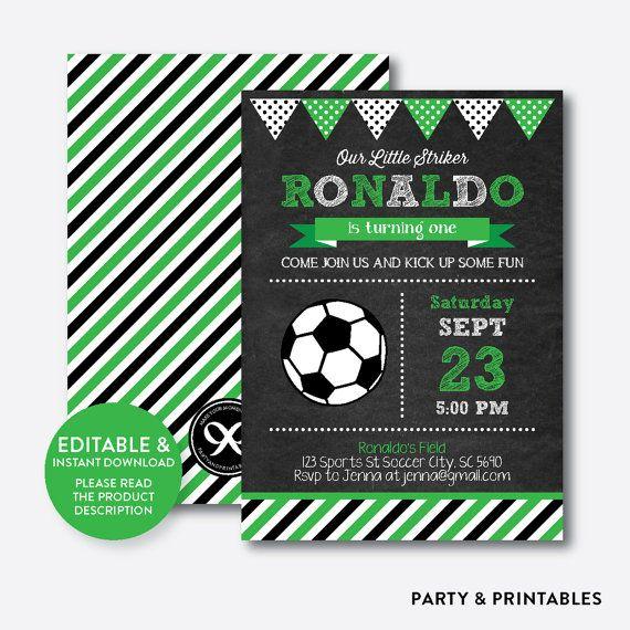 soccer birthday invitation soccer