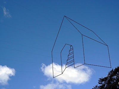 line drawing in the sky