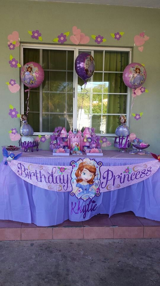 My daughter's 4th Birthday at home. Sofia the First party theme. 2/15/14 By Sheila Marie Matienzo