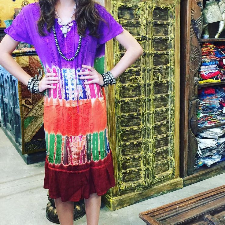 Tie-Dye Lace Up V neck dress features rayon fabric, cap sleeves,lace up and embroidered design in beautiful colors.