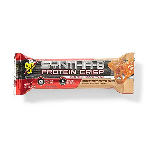 BSN Protein Crisp Bar by Syntha-6, Low Sugar Meal Replacement Whey Protein Bar, Salted Toffee Pretzel, 12 Count (Packaging may vary) #Protein #Crisp #Syntha #Sugar #Meal #Replacement #Whey #Bar, #Salted #Toffee #Pretzel, #Count #(Packaging #vary)