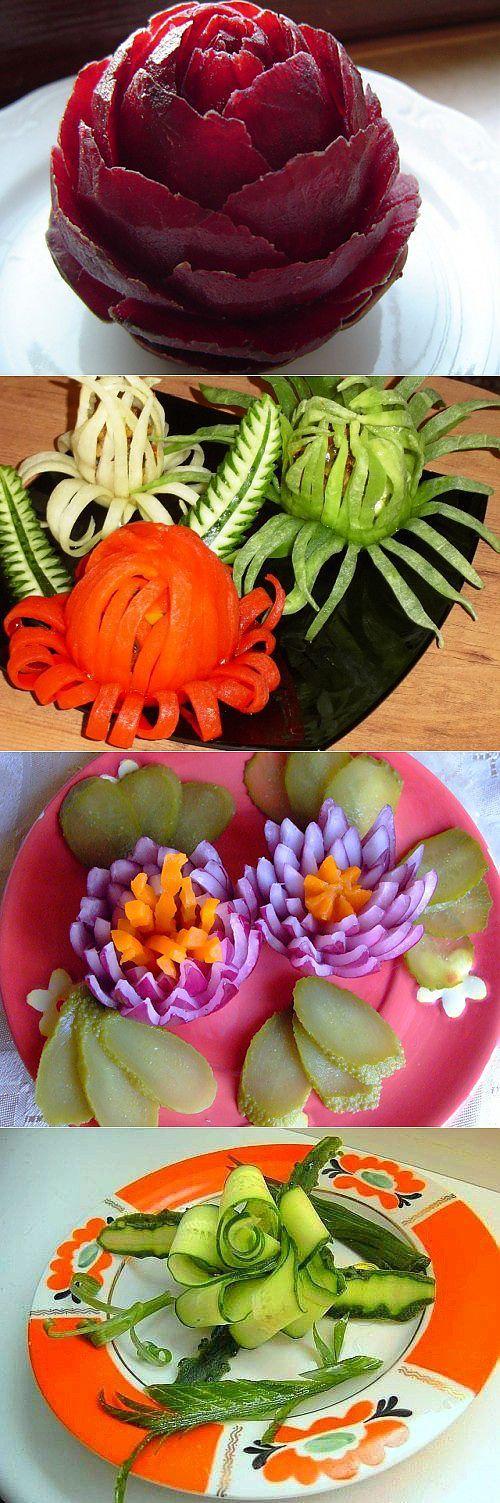 Закуски в виде цветов: для любого праздничного стола / Простые рецепты | Карвинг | Постила