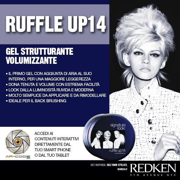 Redken Signature Look: Ruffle Up 14- Frame the image to access the Redken world.