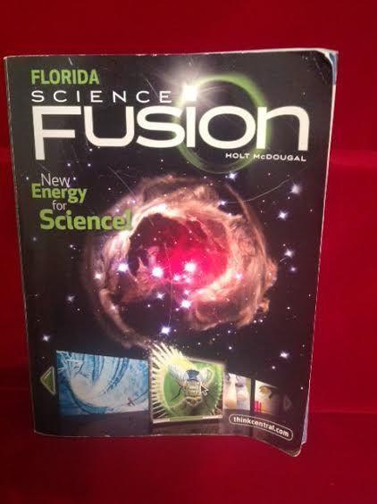Florida Science Fusion Student Workbook, Gr 8, Holt McDougal, Homeschool School #WorkbookStudyGuide