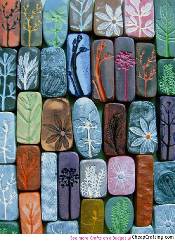 Learn to make these gorgeous #Homemade Organic Inspired Magnets for the fridge or as a #gift idea