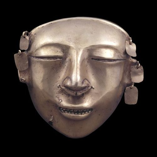 Gold funerary mask Quimbaya, AD 600-1100 From Colombia