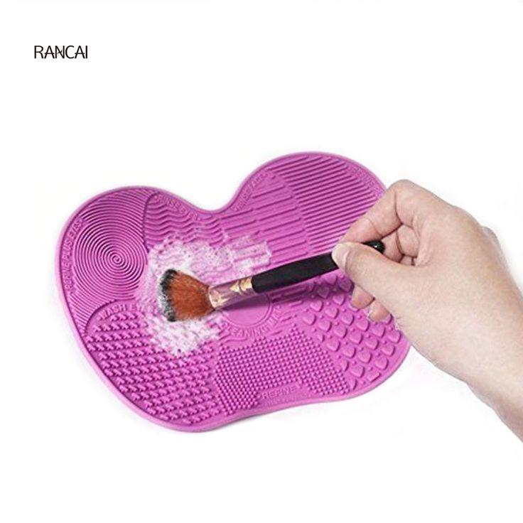 RANCAI 1Pcs Silicone Brush Cleaning Mat Make up Brush Cleaner Brushes Cleanser Cosmetic Clean Tools For Eyes Face Brushes #Affiliate