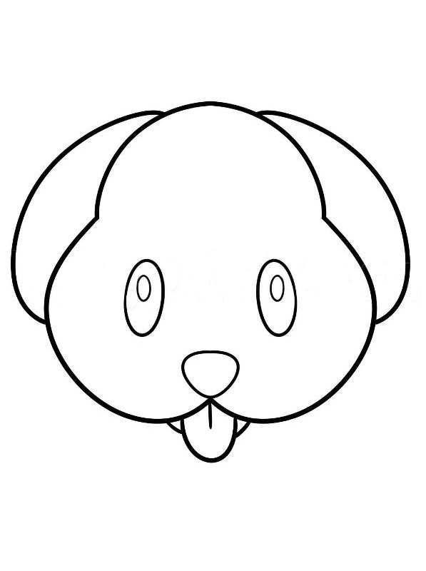 Emoji Coloring Pages Emoji Coloring Pages Dog Emoji Cartoon