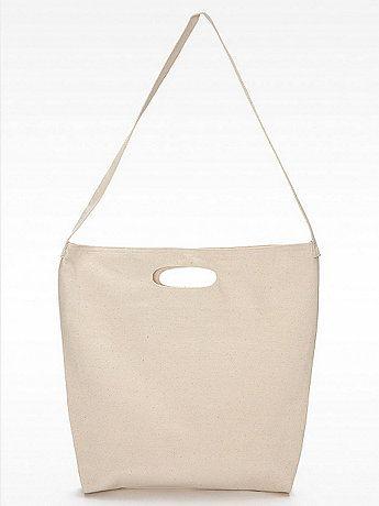 Bull Denim Woven Cotton Bag   American Apparel