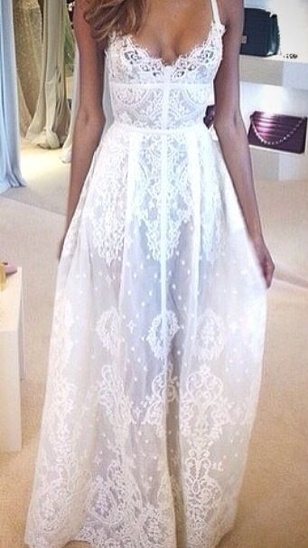Looks like a beach wedding meets a church wedding rolled into one bridal gown. Casual and dressed up.