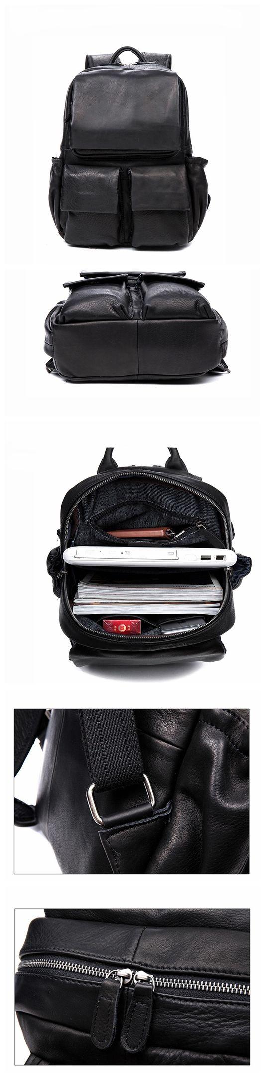 Vintage Leather Backpack College Backpack School Backpack Leather Backpacks, Leather Bags, Vintage Leather Backpack, Vintage Backpacks, Gq Style, Leather Dresses, Designer Backpacks, Men's Backpack, Hammocks