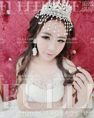 Новый полный круг перлы количество кисточка свадебный головной убор алмазов этнической хореографии ювелирные изделия свадебные аксессуары - Taobao