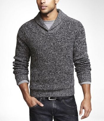 Shawl collar sweaters are cool, but you need the right build to pull them off.