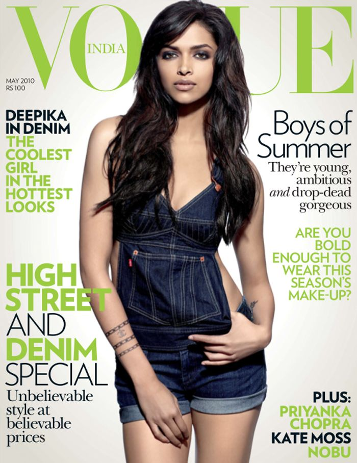 Deepika Padukone is looking smoking hot in the cover shoot for Vogue India