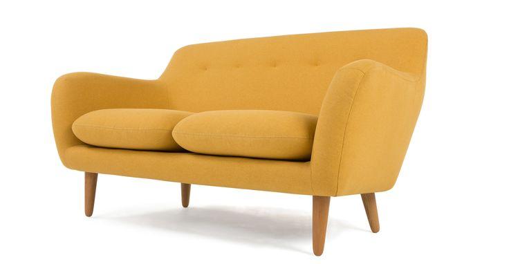 DYLAN 2 Seater Sofa, Yolk Yellow | made.com