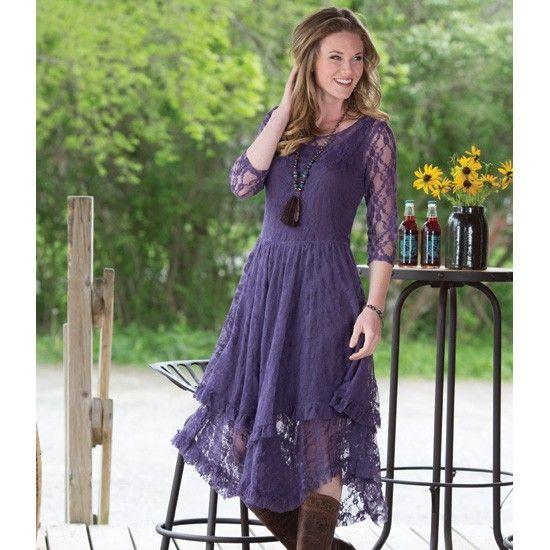 Purple Fields Lace Dress engagement dress