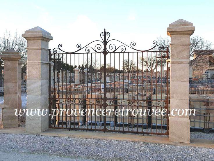 11 best Piliers de portail et clôture 33 ciselé-bouchardé, gamme - motorisation portail battant ouverture exterieure
