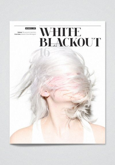 white   #editorial #layout #typography #magazine #cover