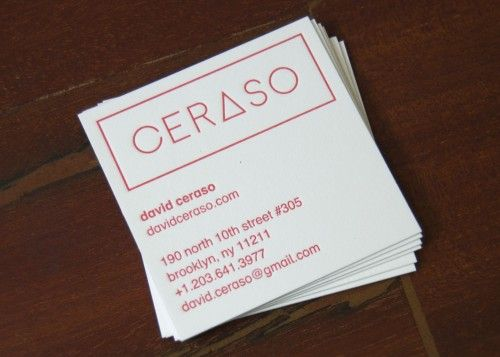 23 best letterpress business cards images on pinterest embossed custom square business cards for david ceraso reheart Images