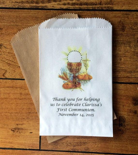 First Communion Favors Candy Buffet Bags Baptism Favor