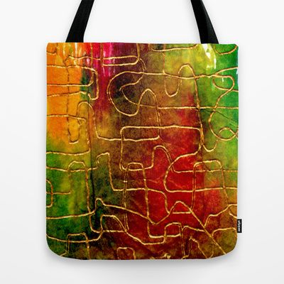 Labyrinth Tote Bag by Chicca Besso - $22.00