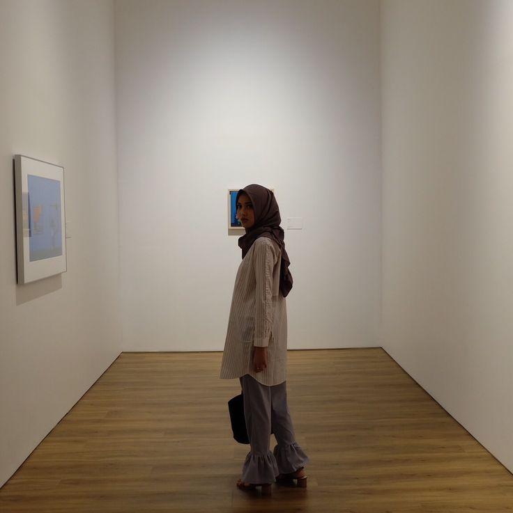 #ootd #ootdhijab #museummacan #art #hijabfashion #hijabstyle