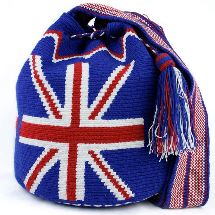 England flag bucket bag