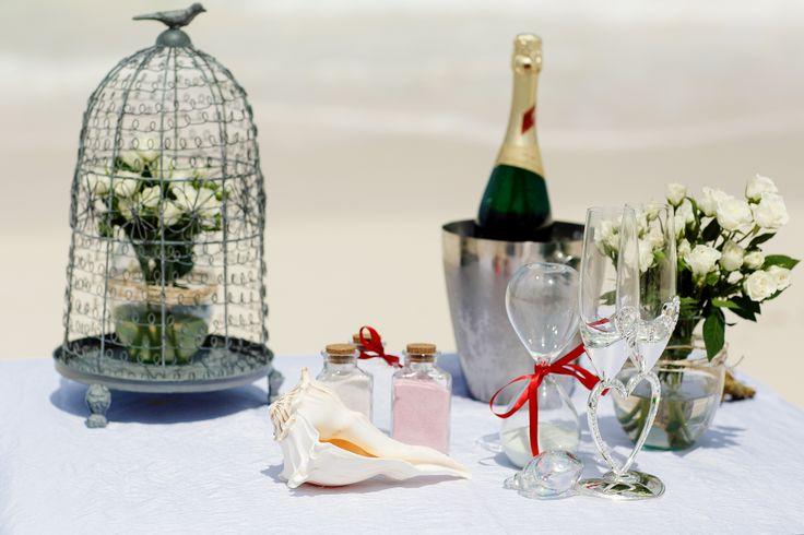 детали для свадьбы на пляже
